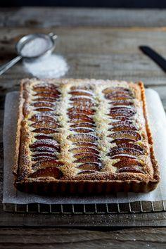 Plum Frangipane Tart #recipe