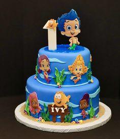 1 Year Birthday Party Ideas, 4th Birthday, Birthday Parties, Bubble Guppies Birthday Cake, Bubble Guppies Party, Birthday Desserts, Birthday Cakes, 1st Year Cake, Evie