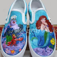 3517bc538bf5 19 Best Disney inspired hand painted Converse and Vans sneakers ...