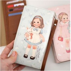 Large Paper Doll Smartphone Walletthe brown one is sooo cute