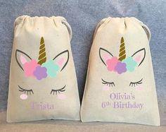 "10-Unicornio, cumpleaños Unicornio, unicornio partido favorece, bolsas Unicornio, unicornio favor bolsos, bolsos de favor de parte de unicornio, unicornio bolsa, 5 ""x 8"""