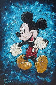 Mickey Mouse - Mouse Strut - Original - Trevor Mezak - World-Wide-Art.com