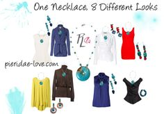 """One Necklace, 8 Looks"" by pieridae-love on Polyvore"