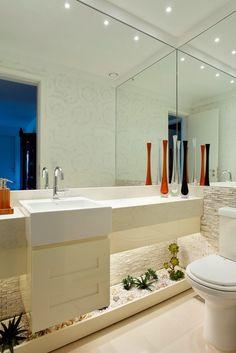 Decor Salteado - Blog de Decoração | Construção | Arquitetura | Paisagismo: Lavabos Decorados – veja dicas e mais de 50 modelos maravilhosos!