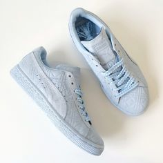 e1621dd969ecc8 NIB Solange Suede Classic Sneakers Totally rad baby blue Pumas designed by  Solange! Brand new