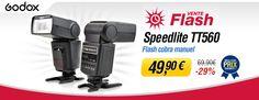 Vente flash Miss Numérique avec -29% sur le flash cobra Godox Speedlite TT560