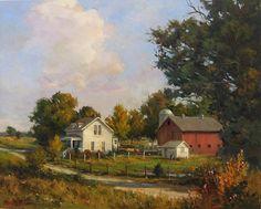 "John Pototschnik ""Family Farm"" - 32""x 40"" - Oil"