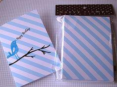 Diagonal Stripe Notecards