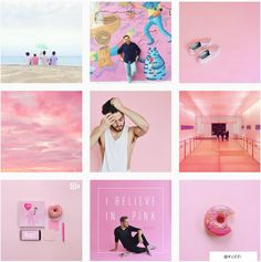 All pink Instagram feed