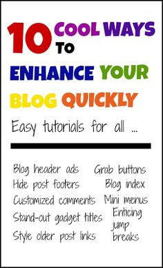 10 cool ways to enhance your blog quickly @Maaike Anema Anema Anema Boven Make Lists #blogging