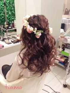 まとめ髪からダウンスタイルまで♡バリエーション3スタイル の画像|大人可愛いブライダルヘアメイク『tiamo』の結婚カタログ