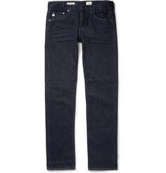 AG Denim - Matchbox Slim-Fit Washed-Denim Jeans|MR PORTER