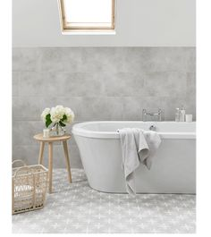 Wicker is a beautiful grey ceramic feature floor tile with a matt finish, this square floor tile is perfect for creating a distinctive look in any room with its intricate and unique pattern.