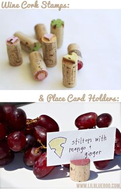 Recycled Wine Cork Stamps via lilblueboo.com