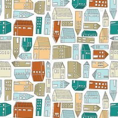 Houses Pattern by ankepanke_design, via Flickr