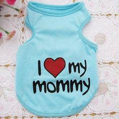 Dog T shirt Love Mommy