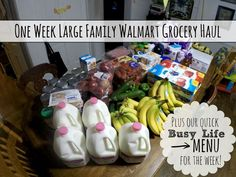 One Week Large Family Walmart Grocery Haul + Our Busy Life Menu for the Week!