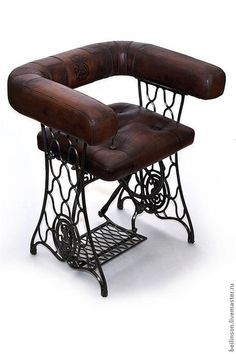 Old sewing machine made into a chair...