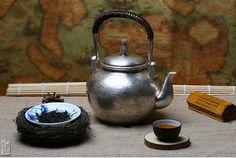 Handiwork of Silver Kettle Tea Set for Tableware 830g, 1300ml