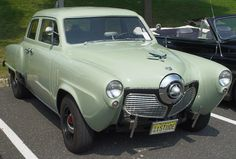 Ah, the Studebaker Commander, my next door neighbor had one of thes in this color! 1951 Studebaker Commander - Green - Front Angle