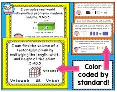 I Can Statements 5th Grade Math, Printable Download
