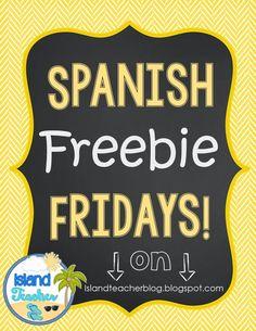 Island Teacher: Spanish Freebie Friday: Song Cloze Activity