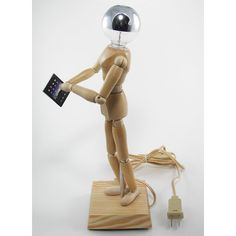 Wood Manikin Figure Lamp with iPad - A DIY tutorial  :  by Whamodyne -  Instructables