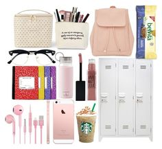 """Untitled #73"" by lsummer10 on Polyvore featuring interior, interiors, interior design, home, home decor, interior decorating, Kate Spade, Topman, Maybelline and New Look"