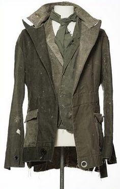 This garment is made from recycled tents by Greg Lauren. Adds a new dimension to the canvas jacket. #fashion #clothing #jacket #suit | Post-apocalyptic Fashion |