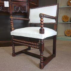 17th Century French Antique Walnut Armchair