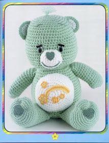 Mesmerizing Crochet an Amigurumi Rabbit Ideas. Lovely Crochet an Amigurumi Rabbit Ideas. Crochet Bear Patterns, Easy Crochet Projects, Knitted Animals, Care Bears, Stuffed Toys Patterns, Amigurumi Doll, Crochet Dolls, Sunshine Bear, Crafts