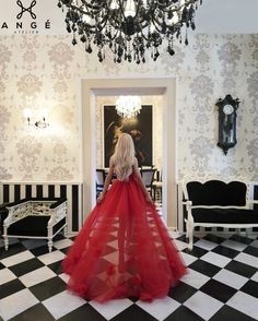 Rochie Scurta Fata Lunga Spate Trena Rosie Printesa AngeAtelier Prom Dresses, Formal Dresses, Wedding Dresses, Luxury Dress, Dream Dress, Corset, Ball Gowns, Tulle, Women Wear