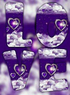 By Artist Unknown. Purple Art, Purple Love, All Things Purple, Shades Of Purple, Cross Pictures, Love Pictures, Love Backgrounds, Purple Christmas, Purple Reign