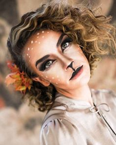 deer makeup halloween makeup
