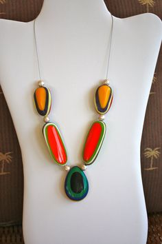 EIGHT Combination COLORS  of the RAINBOW Necklace by anafili, $10.00