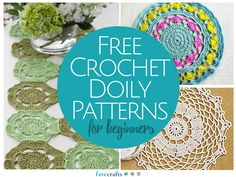This newly updated collection includes 13 Free Crochet Doily Patterns for Beginners!
