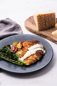 Rosana McPhee serves up her veal schnitzel recipe with lashings of rich Grana Padano sauce, just the thing to elevate this classic dish. Veal Schnitzel, Schnitzel Recipes, Great British Chefs, Cheese Sauce, Served Up, Cheese Recipes, Recipe Using, Italian Recipes, Risotto