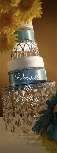 Swarovski Crystal Cake Crown Topper - Desiree