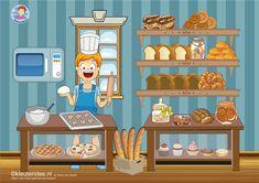 Interactieve praatplaat thema bakker voor kleuters by juf Petra van kleuteridee, met veel informatieve video's