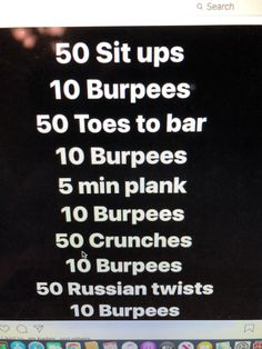 Burpees, Crunches, 5 Min Plank, Rest Day Workouts, Russian Twist, Rest Days, Crossfit, Cheer Abs, Sabbath