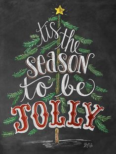 Tis the Season Sign - Chalk Art Print - Christmas Chalkboard Art - Holiday Decor - Christmas Tree Art - Rustic Holiday Art by LilyandVal Merry Christmas Quotes, Christmas Signs, Christmas Pictures, Christmas Holidays, Christmas Crafts, Xmas Quotes, Christmas Wishes, Happy Holidays, Holiday Sayings