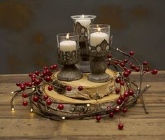 Antiqued Candle Holders Metal with Glass Inserts 3 Sizes Set of 6