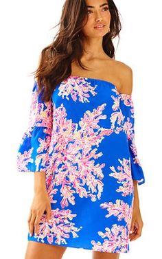 Sanilla Off The Shoulder Silk Dress; $198