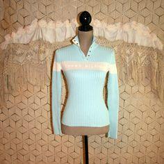 Vintage Tommy Hilfiger Light Blue Sweater Top by MagpieandOtis