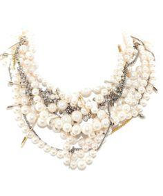 Tom Binns Pearls in Peril gold plated Swarovski crystal Necklace