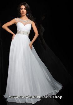 Weisses Empire Abendkleid Tessy