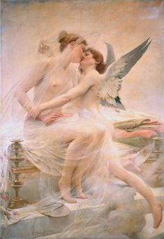 Cupid and Psyche by Lionel Noel Royer (1893)