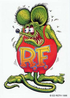 rat fink ed big daddy roth rat fink white