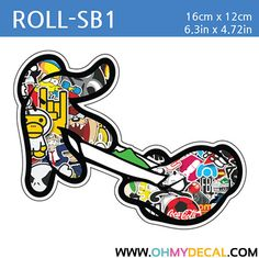 Gun Jdm Kdm Vinyl Sticker Fresh Illest Grenade Mario Mickey Lot Of 2