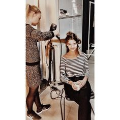 Today's shoot at VERO MODA HQ: Model in hair and makeup. #veromoda #veromodainside #photoshoot #fashion #loveit #styling #makeup